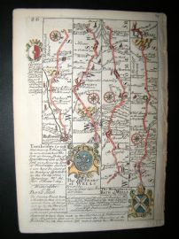 Owen & Bowen C1740 HC Map. Wiltshire, Somerset. Marlborough, Wells, Trowbridge